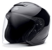 Harley-Davidson® Mens Hybrid Ultra-Light Torque Gloss Black 3/4 Helmet 98351-11VM