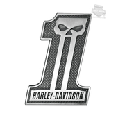 Harley-Davidson® #1 Skull Antique Silver Finish 3D Die Cast Magnet DM71806