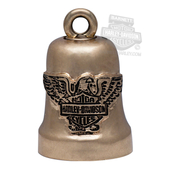 Harley-Davidson® .925 Silver Gold Tone Eagle B&S Ride Bell by Mod Jewelry® HRB072