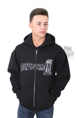 Harley-Davidson® Mens H-D 1 TNT Full Zip Black Long Sleeve Hoodie R001826