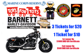 US Marine Corps Reserves Toys For Tots Charity - New 2017 Harley-Davidson XL1200X Sportster® Forty-Eight® Raffle Ticket RAFTICKET-2017