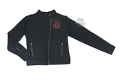 ** 7/8 & 10/12 SIZES ONLY ** Harley-Davidson® Girls Youth Knit Motor Jacket with Red Embroidery Black *CIJ* SG42-1374