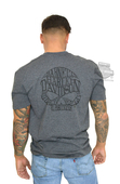 Harley-Davidson® Mens Willie G Skull Barnett Harley Exclusive Black Ink Charcoal Short Sleeve T-Shirt WGBHD-002