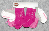 Harley-Davidson® Girls Toddler Pink 3 Pack Socks