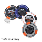 Harley-Davidson® 115th Anniversary BHD Custom Full Color-Assorted Poker Chip Gray