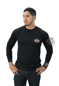 Harley-Davidson® Mens Performance B&S with Mesh Black Long Sleeve T-Shirt