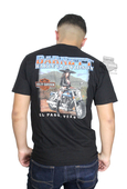 Harley-Davidson® Mens Elongated Orange B&S Black Short Sleeve T-Shirt