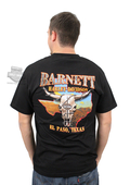 Harley-Davidson® Mens Orange B&S BHD Custom Black Short Sleeve T-Shirt
