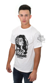 Harley-Davidson® Mens Los Muertos Pinup with Barbed Wire White Short Sleeve T-Shirt