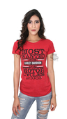 ** SIZE 2X ONLY ** Harley-Davidson® Womens Most Wanted Bling Red Short Sleeve T-Shirt