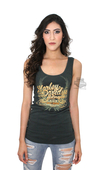 ** SIZE 2X ONLY ** Harley-Davidson® Womens Filigree & Wings Scoop Neck Dark Green Sleeveless Tank