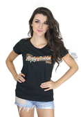 ** BIG SIZES ONLY ** Harley-Davidson® Womens Gothic Banner Scoop Neck Black Short Sleeve T-Shirt *CIJ*