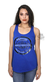 ** SMALL & X-LARGE ONLY ** Harley-Davidson® Womens Oily Blues Foil Genuine Trademark B&S Blue Sleeveless Tank