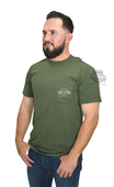 Harley-Davidson® Mens Old School Trademark B&S Pocket Green Short Sleeve T-Shirt