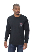 ** SMALL & BIG SIZES ONLY ** Harley-Davidson® Mens Vapor Smoke B&S Pocket Black Long Sleeve T-Shirt