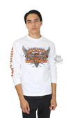 ** SMALL & BIG SIZES ONLY ** Harley-Davidson® Mens Rise Up Winged Trademark B&S White Long Sleeve T-Shirt