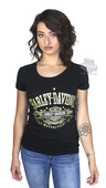 Harley-Davidson® Womens After Gold Trademark B&S Black Short Sleeve T-Shirt