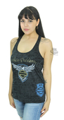 Harley-Davidson® Womens Beyond Glory Burnout 115th Anniversary Black Sleeveless Tank