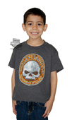 Harley-Davidson® Boys Youth Demolition Willie G Skull Charcoal Short Sleeve T-Shirt *48HR*