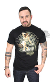 ** BIG SIZES ONLY ** Harley-Davidson® Mens Thunder of The Silenced Military Pinup Black Short Sleeve T-Shirt