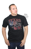 Harley-Davidson® Mens Texas Skull Flag Black Short Sleeve T-Shirt