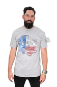 ** SIZE 5X ONLY ** Harley-Davidson® Mens Texas Land Of The Free Grey Short Sleeve T-Shirt