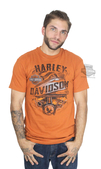 ** BIG SIZES ONLY ** Harley-Davidson® Mens Patch Pride Tank with B&S Texas Orange Short Sleeve T-Shirt