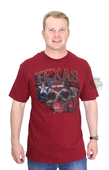 ** SIZE X-LARGE ONLY ** Harley-Davidson® Mens Texas Skull Flag with B&S Cardinal Short Sleeve T-Shirt
