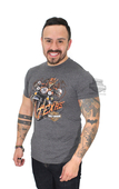 Harley-Davidson® Mens Texas Skull Rider Charcoal Short Sleeve T-Shirt
