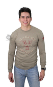 ** SMALL & BIG SIZES ONLY ** Harley-Davidson® Mens Brothers Ride V-Twin Tan Long Sleeve T-Shirt *3D1*
