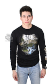 ** SIZE LARGE ONLY ** Harley-Davidson® Mens Face To Face Mt. Rushmore Scott Jacobs Black Long Sleeve T-Shirt *2D1*
