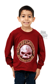 Harley-Davidson® Boys Youth Demolition Willie G Skull Red Long Sleeve T-Shirt