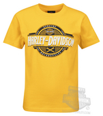 ** SMALL SIZES ONLY ** Harley-Davidson® Boys Youth Metal Joint II Yellow Short Sleeve T-Shirt