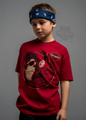 Harley-Davidson® Boys Youth Burnt Betelgeuse Monkey with Shades Cardinal Short Sleeve T-Shirt