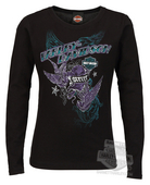 Harley-Davidson® Girls Youth Highway Of Earth II Black Long Sleeve T-Shirt