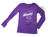 ** SMALL SIZES ONLY ** Harley-Davidson® Girls Youth One Voice B&S Purple Long Sleeve T-Shirt *KIDW*