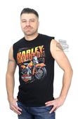 Harley-Davidson® Mens Powerful Performance Motorcycle Black Sleeveless Muscle T-Shirt