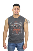 Harley-Davidson® Mens Forged In Glory Eagle Charcoal Sleeveless Muscle T-Shirt