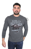 Harley-Davidson® Mens Pledged Emotion Engine with B&S Charcoal Long Sleeve T-Shirt