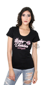** SMALL SIZES ONLY ** Harley-Davidson® Womens Logo Spark Black Short Sleeve T-Shirt