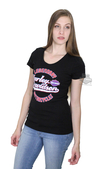 ** SMALL SIZES ONLY ** Harley-Davidson® Womens Chrome Motivation Legendary B&S Black Short Sleeve T-Shirt
