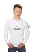 Harley-Davidson® Mens Final Edition HD Name Synthetic Mesh Piecing White Long Sleeve T-Shirt