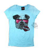 ** SMALL SIZES ONLY ** Harley-Davidson® Girls Youth Biker Within Bulldog Shades with B&S Blue Short sleeve T-Shirt