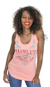 ** SIZE SMALL ONLY ** Harley-Davidson® Womens Handcrafted Life Trademark B&S Pink Sleeveless Tank