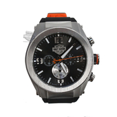 Harley-Davidson® Mens B&S Chronograph with Tire Tread Strap Watch 76B176 By Bulova