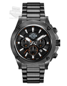 Harley-Davidson® Mens Black Ion Plated Chronograph Watch 78B127 By Bulova