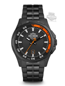 Harley-Davidson® Mens B&S Black Dial with Black Ion Plating Watch 78B141 By Bulova