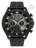 Harley-Davidson® Mens B&S Textured Bezel Chronograph Matte Black Watch 78B146 By Bulova