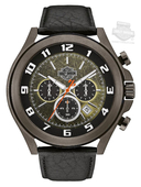 Harley-Davidson® Mens B&S Textured Bezel Chronograph Gunmetal Dial Watch 78B149 By Bulova