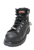 Harley-Davidson® Womens Gabby Black Leather Low Cut Steel Toe Boot